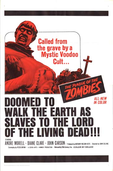 Plague of the Zombies, The US One Sheet movie poster