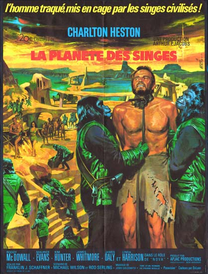 Planet of the Apes French movie poster