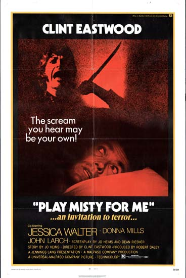Play Misty for Me US One Sheet movie poster