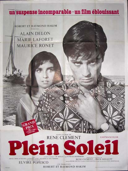 Plein Soleil [ Purple Noon ] French Grande movie poster