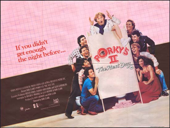 porkys ii the next day original film poster movie poster
