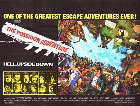Poseidon Adventure, The UK Quad movie poster