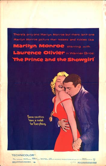 Prince and the Showgirl, The US Window Card movie poster