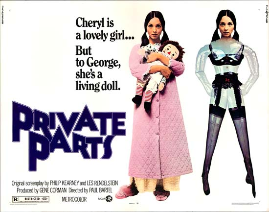 Private Parts US Half Sheet movie poster