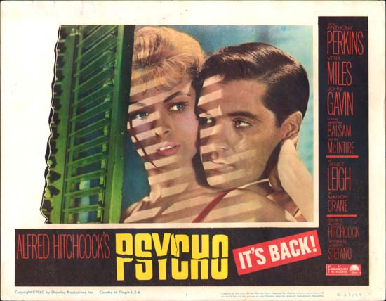 Psycho US Lobby Card number 1