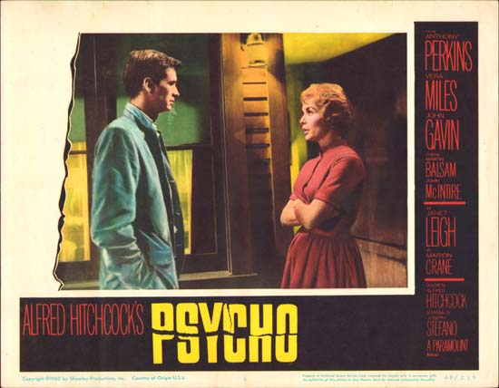 Psycho US Lobby Card number 6