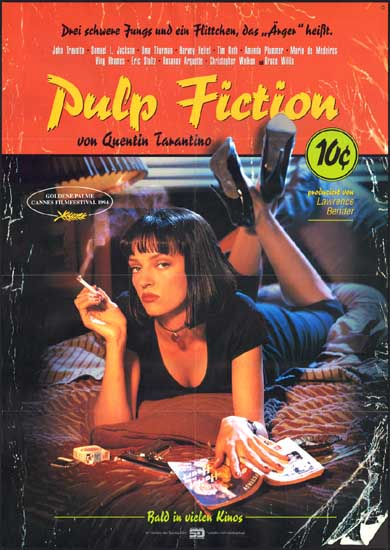 Pulp Fiction German A1 advance movie poster