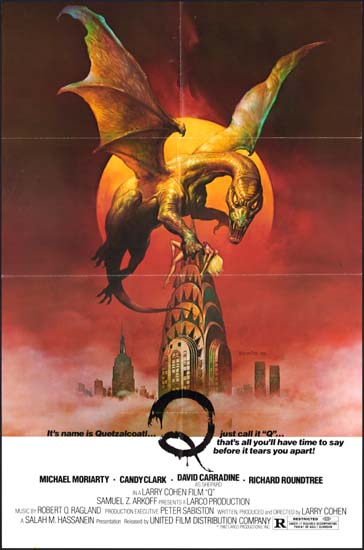 Q The Winged Serpent US One Sheet movie poster