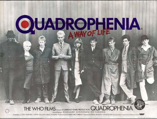 Quadrophenia UK Quad movie poster