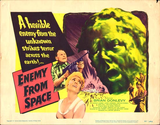 Quatermass II Enemy from Space US Title Lobby Card