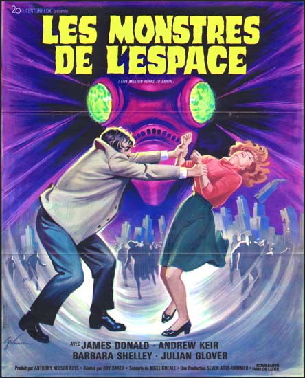 Quatermass and the Pit [ Five Million Miles to Earth ] French movie poster