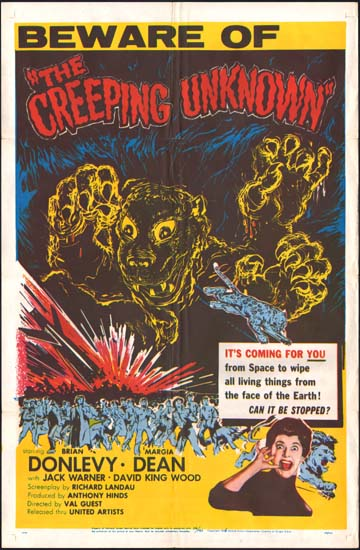 The Quatermass Xperiment [ The Creeping Unknown / The Quatermass Experiment ] US One Sheet movie poster