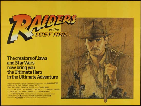 Raiders of the Lost Ark UK Quad style A movie poster