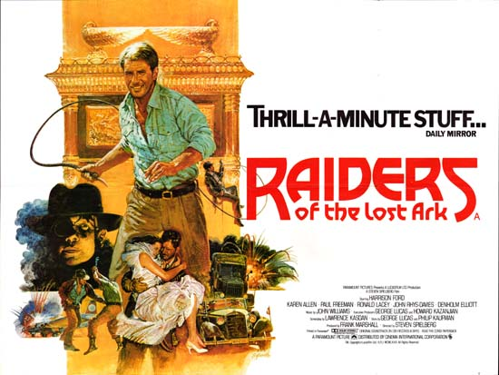 Raiders of the Lost Ark UK Quad style B movie poster