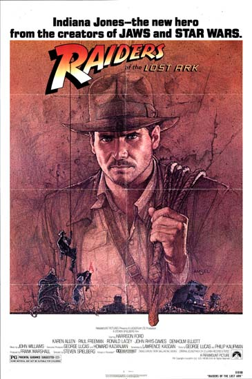 Raiders of the Lost Ark US One Sheet movie poster