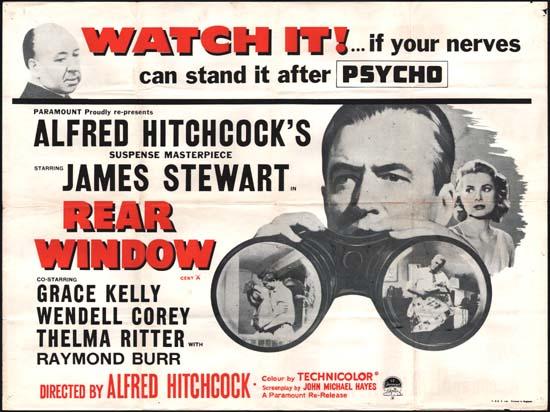 Rear Window UK Quad movie poster