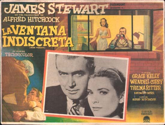 Rear Window Mexican Lobby Card