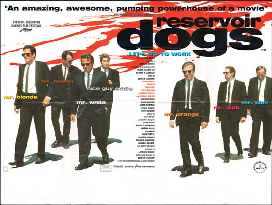 Reservoir Dogs UK Quad movie poster