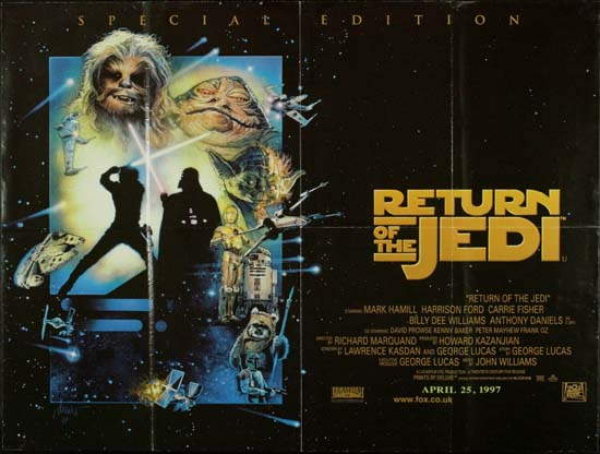 Return of the Jedi UK Quad movie poster