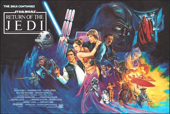 Return of the Jedi UK Quad movie poster