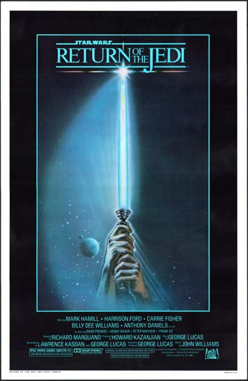 Return of the Jedi US One Sheet movie poster