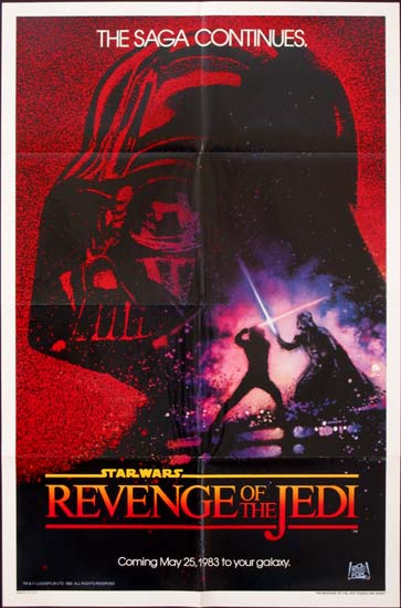 Revenge of the Jedi [ Return of the Jedi ] US One Sheet 2nd advance movie poster
