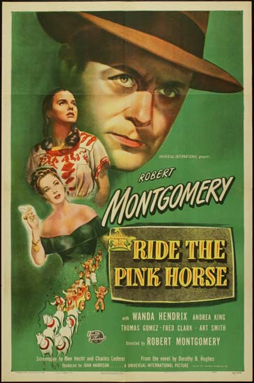 Ride The Pink Horse US One Sheet movie poster
