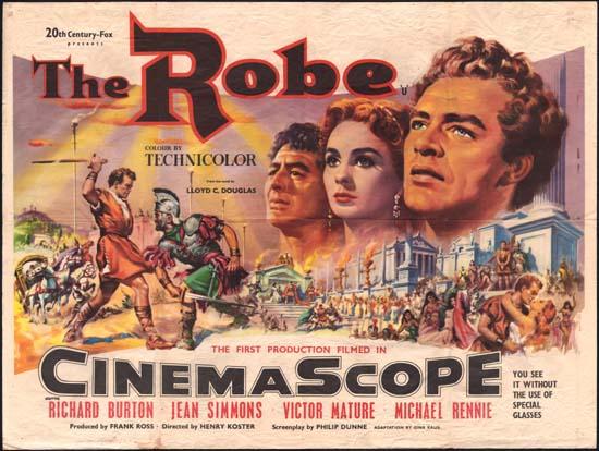 Robe, The UK Quad movie poster