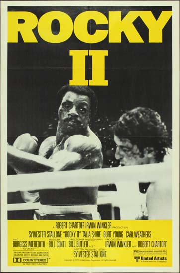 Rocky II US One Sheet style B movie poster