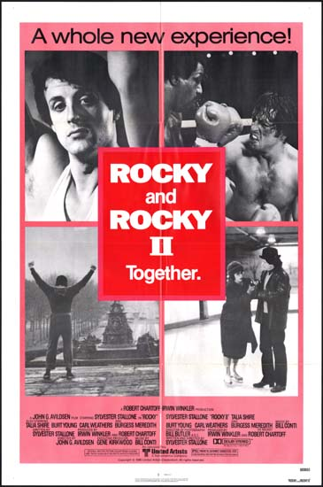 Rocky / Rocky II US One Sheet movie poster