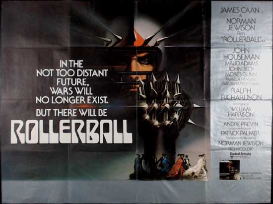 Rollerball UK Quad movie poster