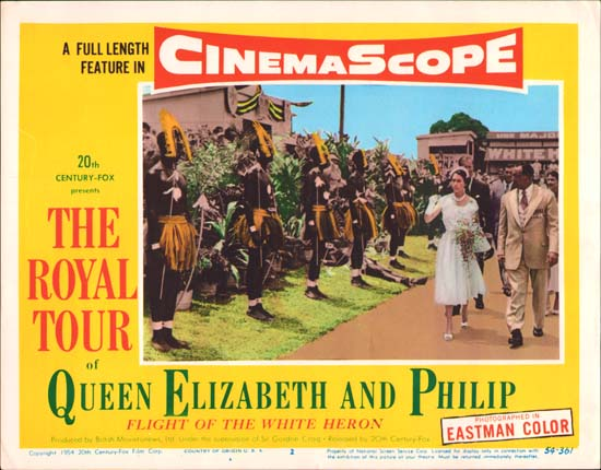 Royal Tour of Queen Elizabeth and Philip, The [ Flight of the White Heron ] US Lobby Card number 2
