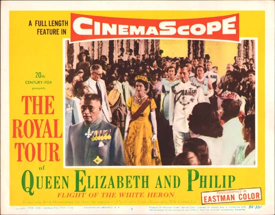 Royal Tour of Queen Elizabeth and Philip, The [ Flight of the White Heron ] US Lobby Card number 3