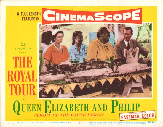 Royal Tour of Queen Elizabeth and Philip, The [ Flight of the White Heron ] US Lobby Card number 5