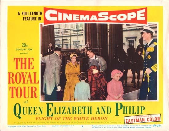 Royal Tour of Queen Elizabeth and Philip, The [ Flight of the White Heron ] US Lobby Card number 6