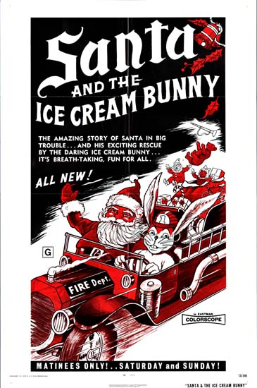 Santa and the Ice Cream Bunny US One Sheet movie poster