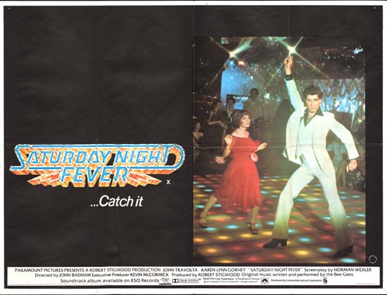 Saturday Night Fever UK Quad movie poster