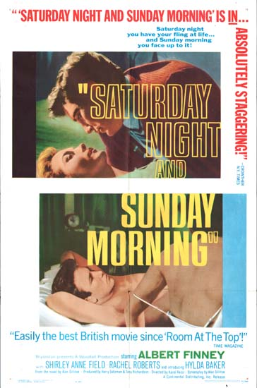 Saturday Night and Sunday Morning US One Sheet movie poster