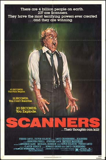 Scanners US One Sheet movie poster