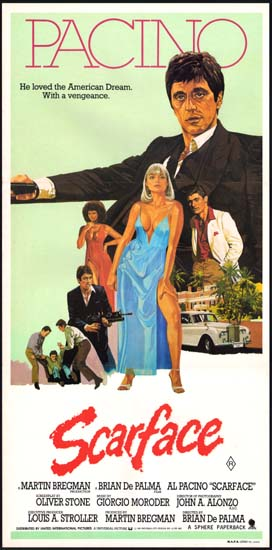 Scarface Australian Daybill movie poster