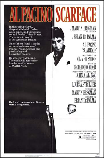 Scarface US One Sheet movie poster
