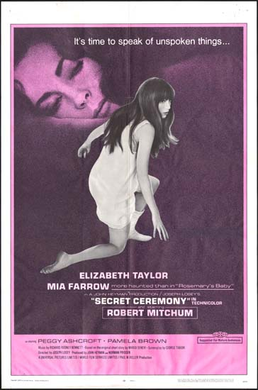 Secret Ceremony US One Sheet movie poster