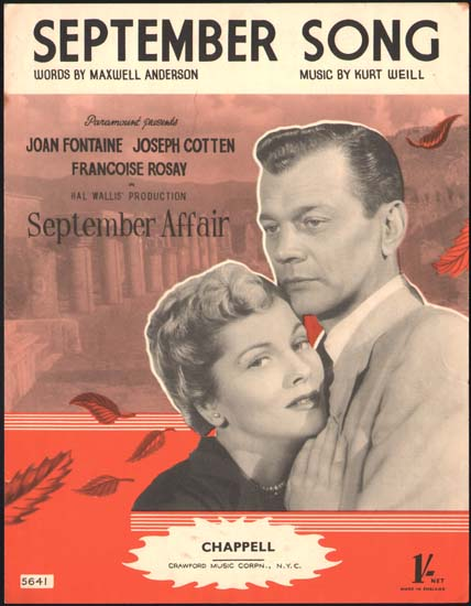 September Affair UK Sheet Music