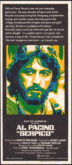 Serpico Australian Daybill movie poster