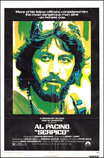 Serpico US One Sheet movie poster