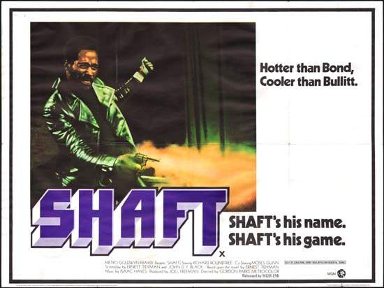 Shaft UK Quad movie poster