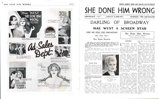She Done Him Wrong UK Pressbook
