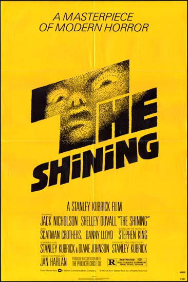 Shining US One Sheet movie poster