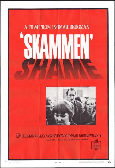 Shame [ Skammen ] US One Sheet movie poster