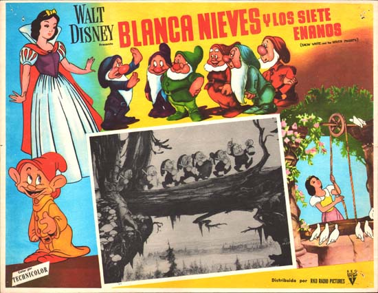 Snow White and the Seven Dwarfs Mexican Lobby Card
